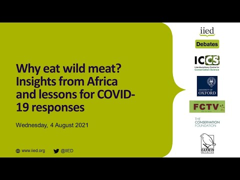 Why eat wild meat insights from africa and lessons for covid 19 responses