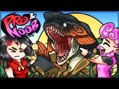 Why is jyuratodus here - pro and noob vs monster hunter rise! #proandnoob #rise