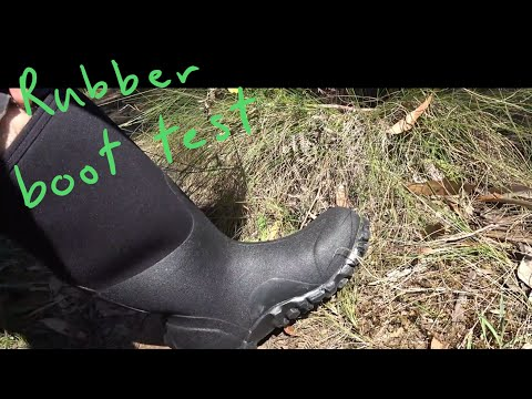 Noob tries wild camping: rubber boots for hiking? i test it out
