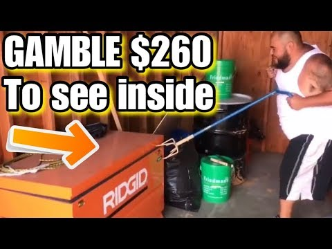$260 gamble locked ridgid box ~ whats inside? i bought an abandoned storage unit and found tools