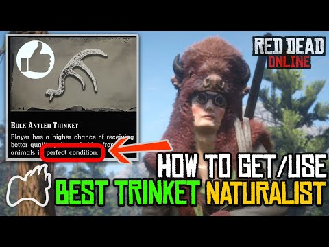 Red dead online how to use a trinket? getting the buck antler trinket for naturalist
