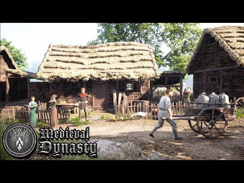 Medieval life simulator building a house crafting tools hunting animals   medieval dynasty gameplay
