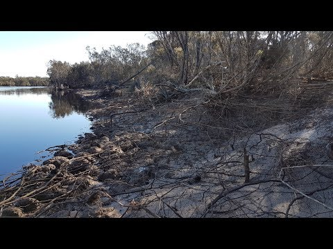 Amazing discovery - big floods reveal ancient aboriginal hunting grounds near meteorite island