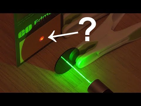 The issue with green laser pointers